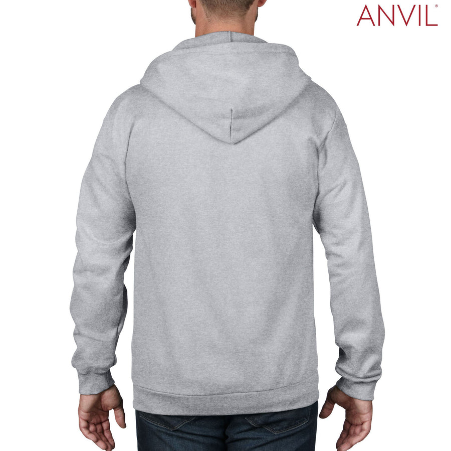 71600 Anvil Adult Full-Zip Hooded Fleece - Panther Teamwear