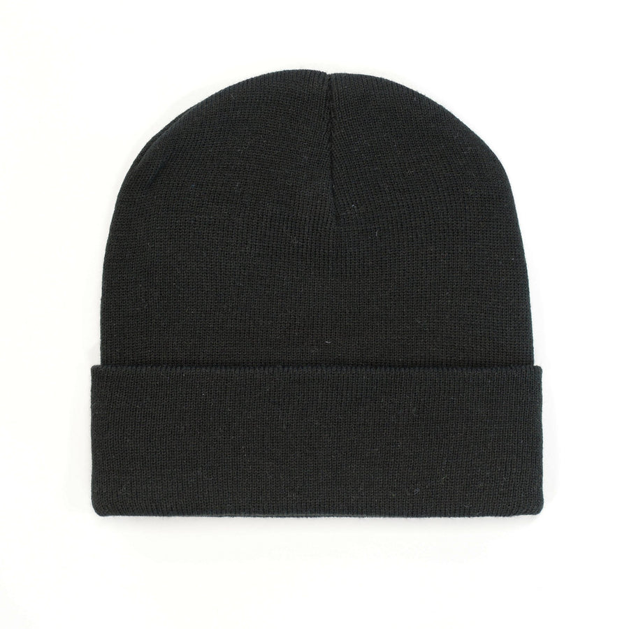B001 HW24 Cuffed Knitted Beanie - Panther Teamwear