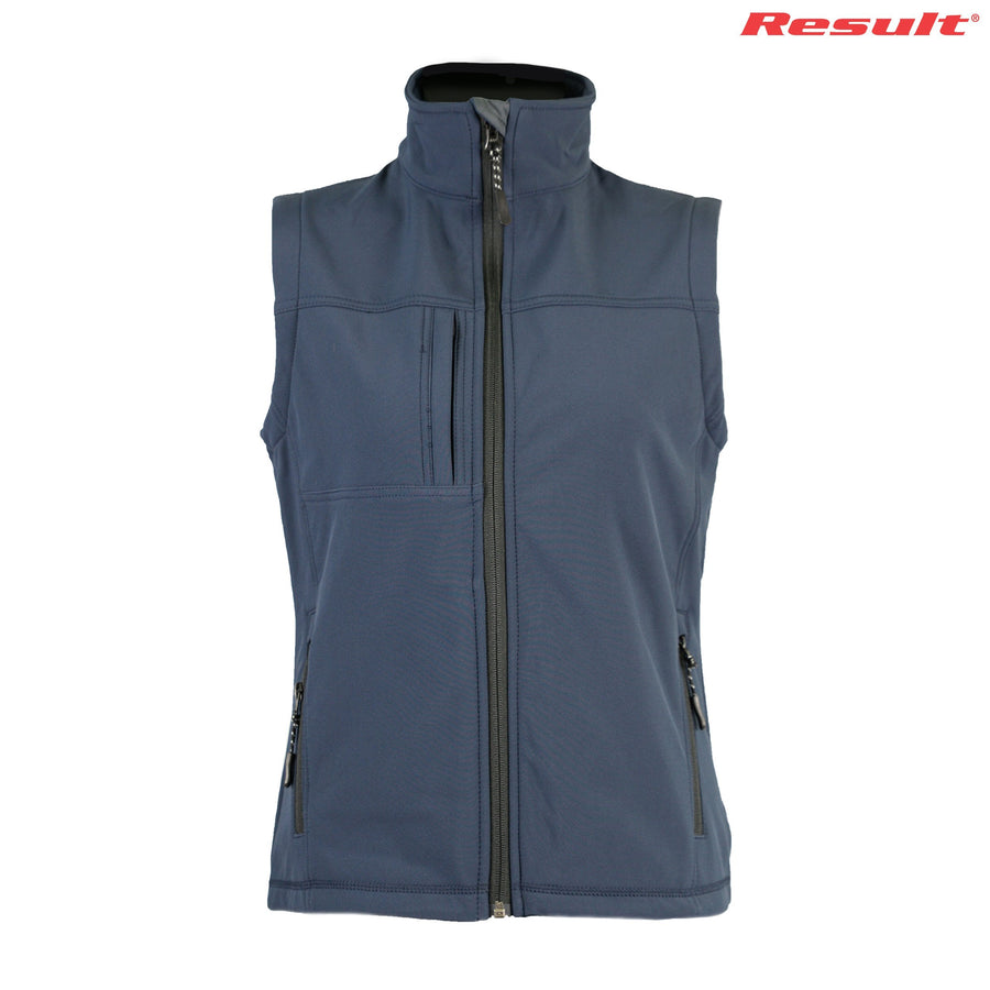 R014F Result Ladies' Classic Softshell Vest - Panther Teamwear