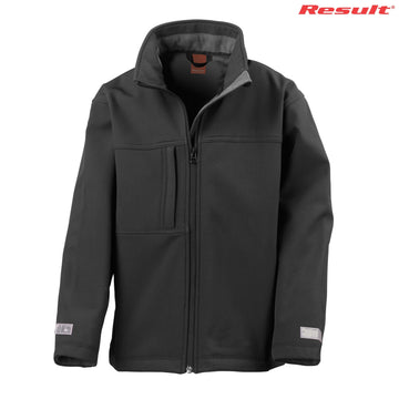 R121B Result Youth Classic Softshell Jacket - Panther Teamwear