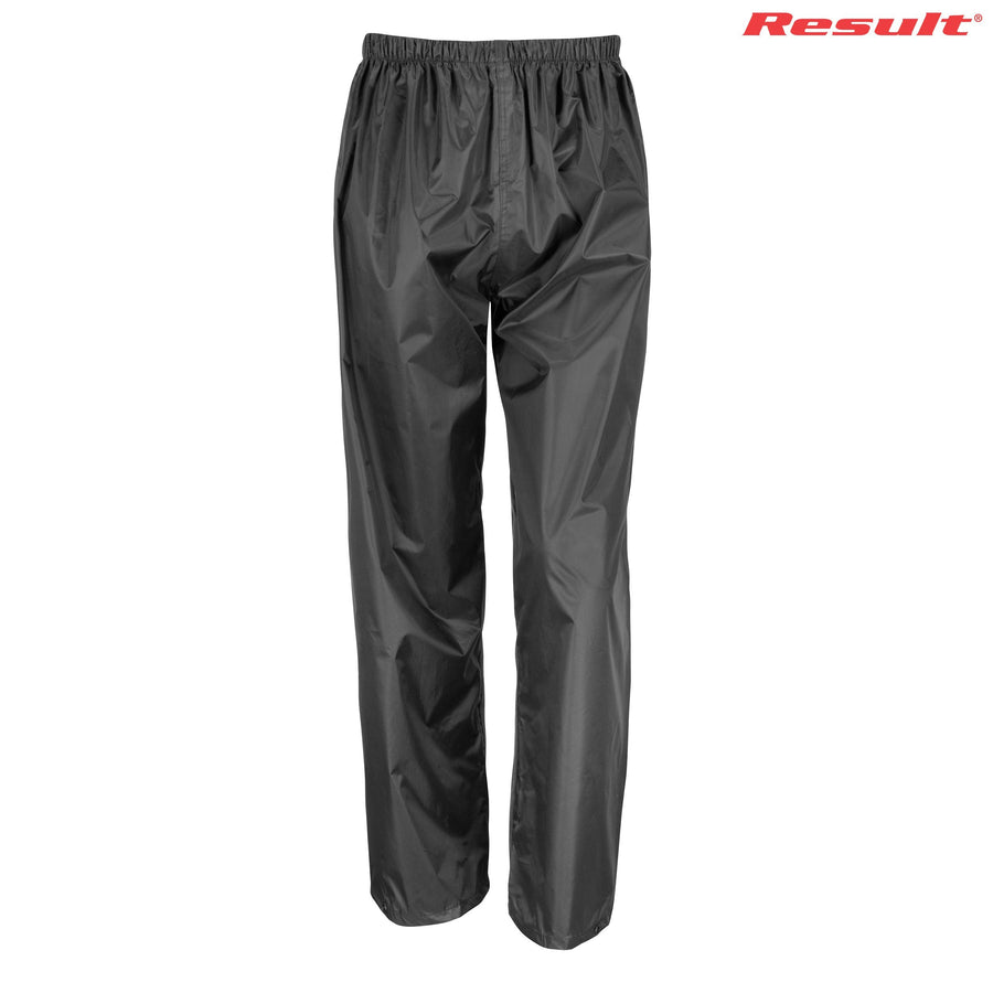 R226B Result Youth Rain Trousers - Panther Teamwear