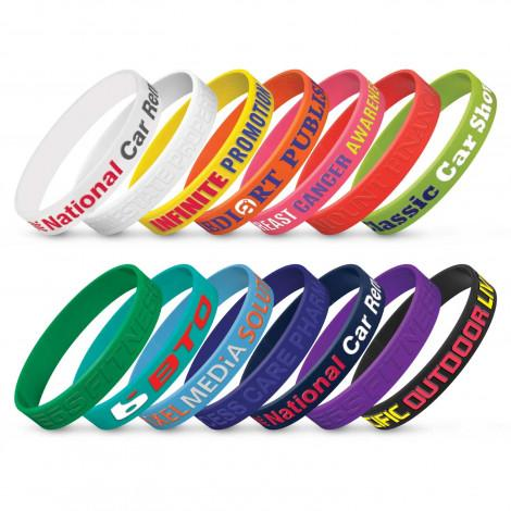 Silicone Wrist Band - Embossed - Panther Teamwear