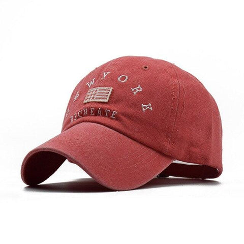 Casquette New York Create Rouge