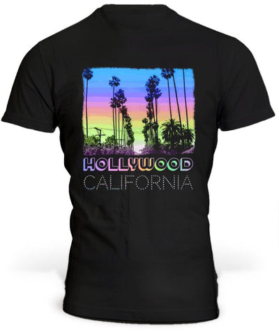 T-Shirt Los Angeles Hollywood Noir