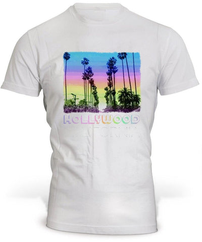 T-Shirt Los Angeles Hollywood Blanc