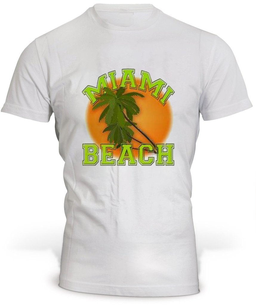 T-Shirt Miami Beach Blanc