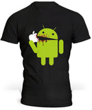 T-Shirt USA Android Eat Apple