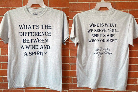 T Shirt - Difference Between Wine & Spirit