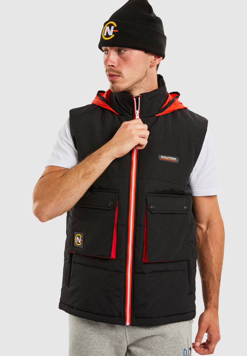 Dhow Padded Gilet - Black