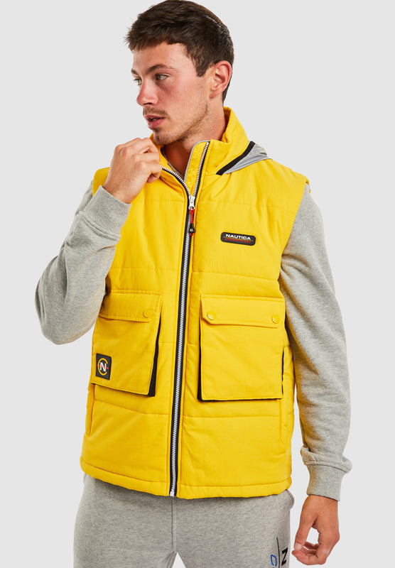 Dhow Padded Gilet - Yellow