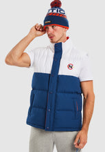 Load image into Gallery viewer, Siren Padded Gilet - Navy/White