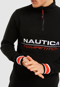 Liner 1/4  Zip Track Top - Black