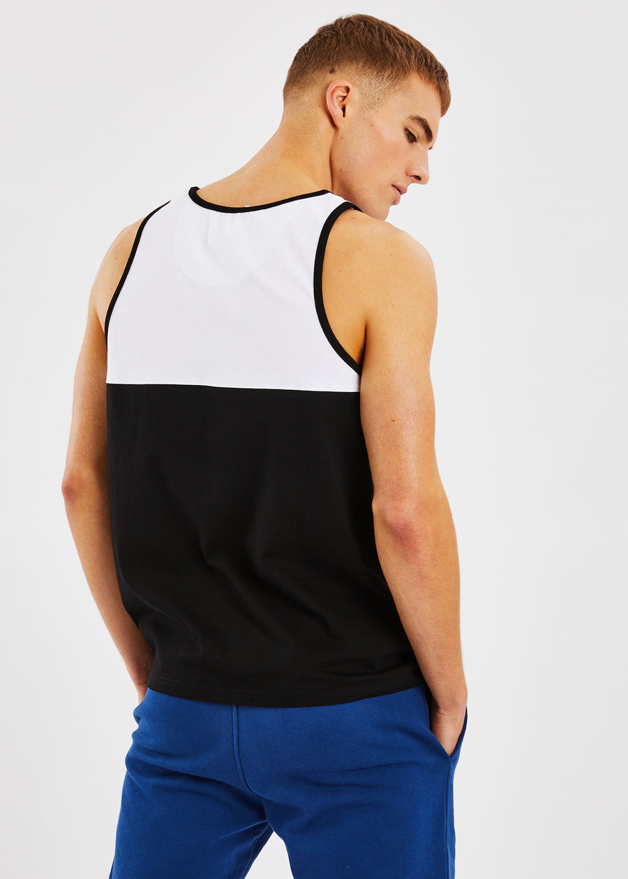 Chine Vest - Black/White