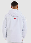 Cowl 1/4 Zip Jacket - White