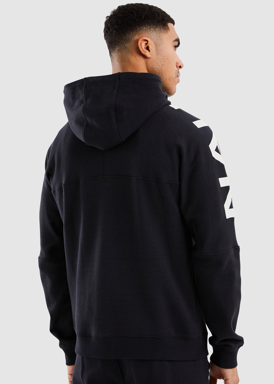 Port 1/2 Zip Hoody - Black
