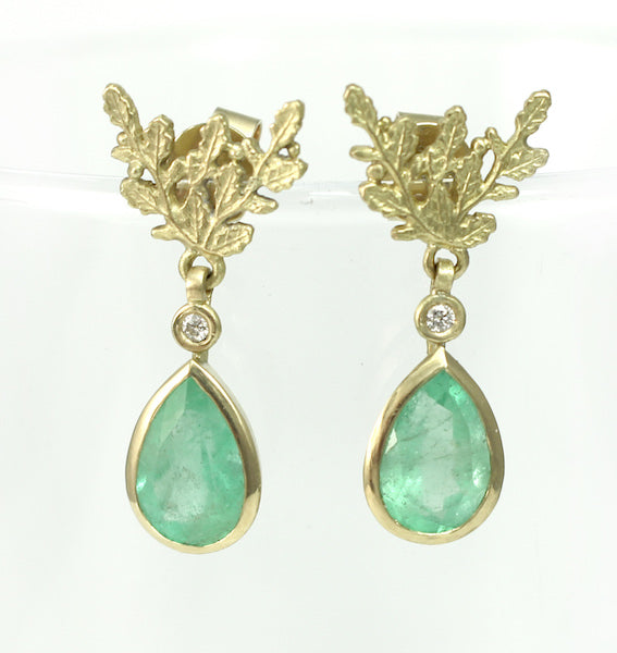 New Columbian Emeralds & Diamond Earrings!