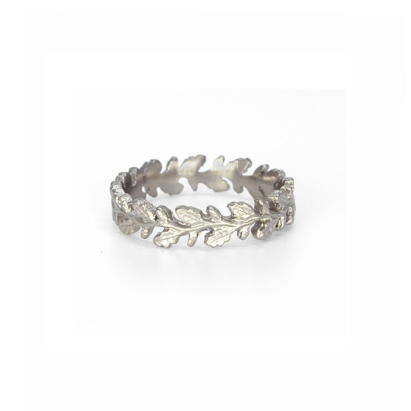 Wreath Ring in White Gold
