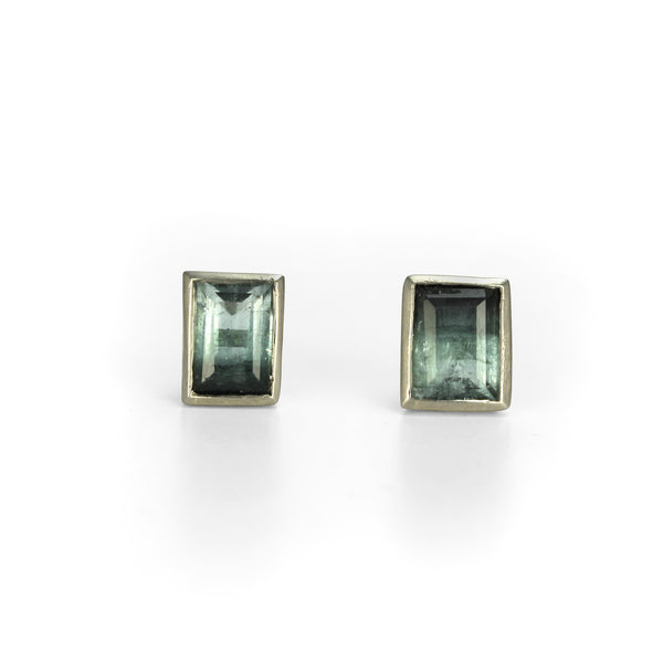 Bi-colour Tourmaline Ear studs