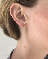 Citrine Oak Drop Earrings