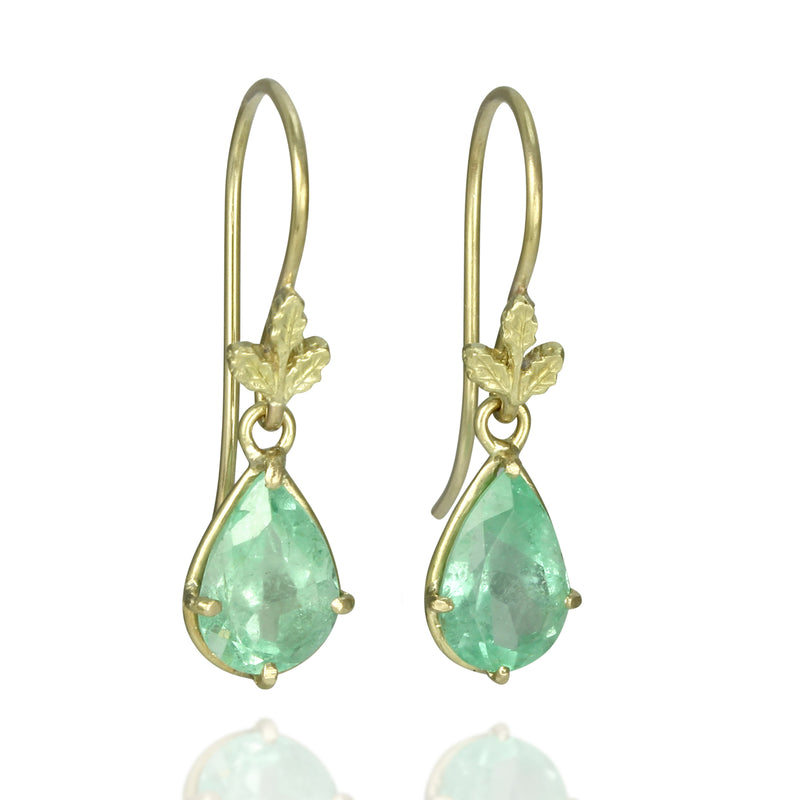 Emerald Oak Drop Earrings