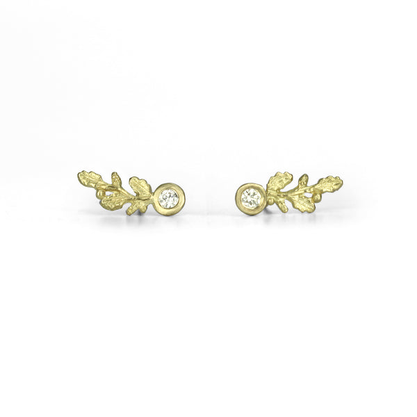 Oak Sprig Diamond Studs