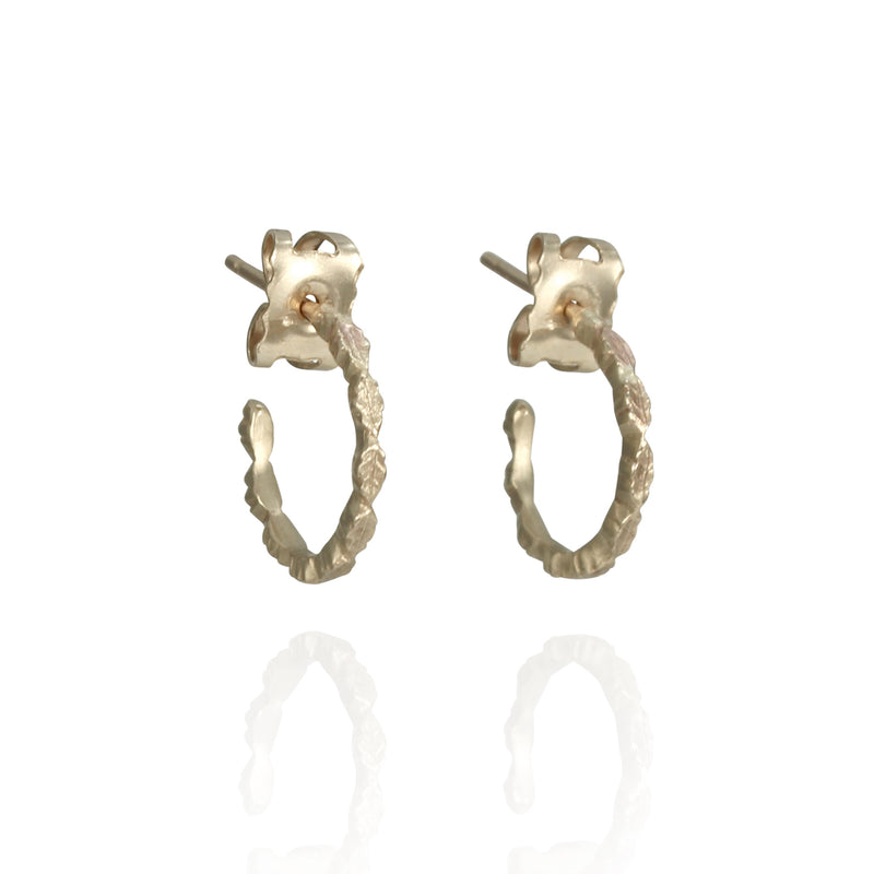 Oak Hoop Earrings