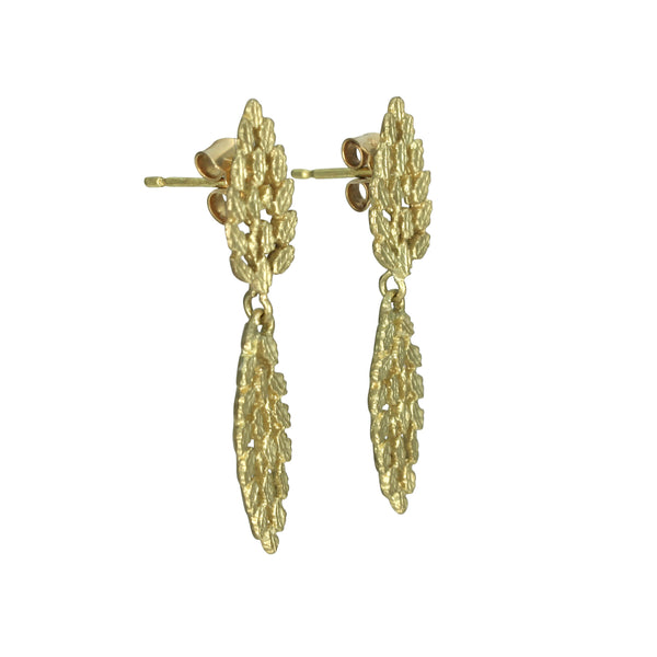 Twin Leaf Earrings