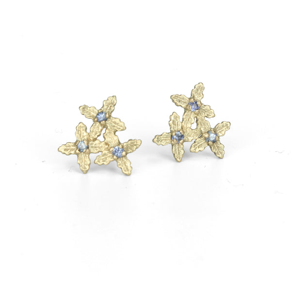 Sapphire Cluster Earstuds