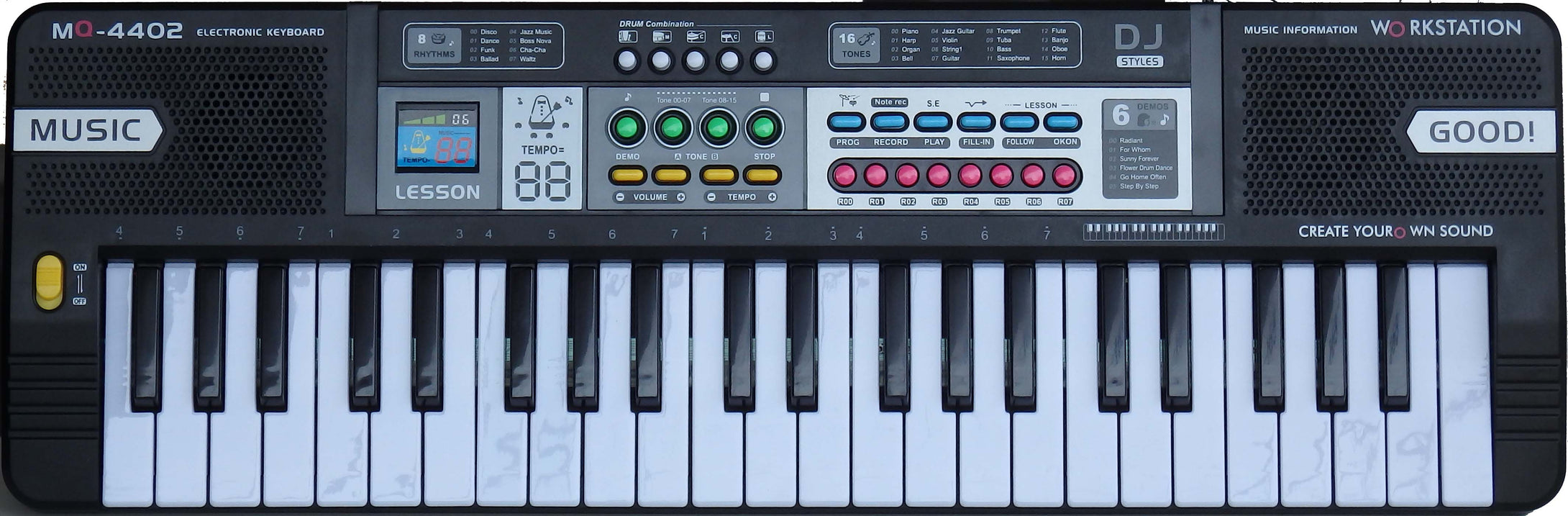 MITSUKI MQ4402 Music Keyboard with 44-Mid side keys