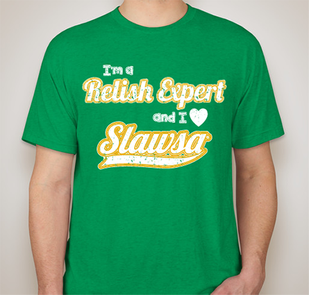 "T-Shirt - Men's ""Relish Expert"" Kelly Green Vintage Tee"