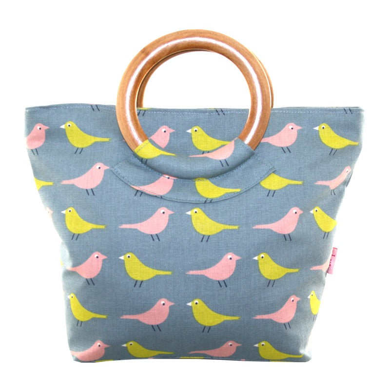 Wooded Handle Printed Cotton Bags