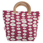Load image into Gallery viewer, Wooded Handle Printed Cotton Bags