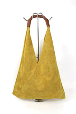 Load image into Gallery viewer, Genuine Suede Soft Shoulder Bag with Leather Handle