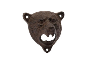 Cast Iron Bear Wall Bottle Opener