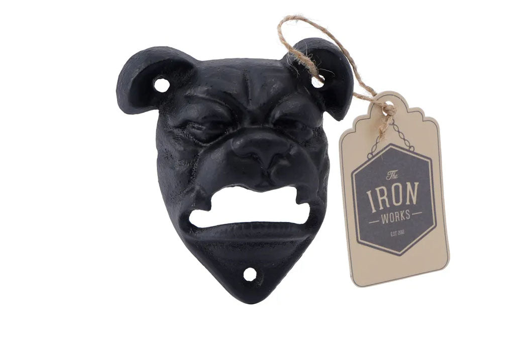 Cast Iron Bulldog Wall Bottle Opener
