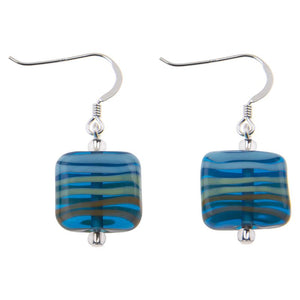 Marine Fizz Glass Earrings