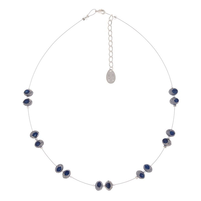 Blue Meteor Glass Bead Necklace