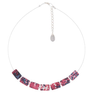Pink Rainflower Glass Necklace