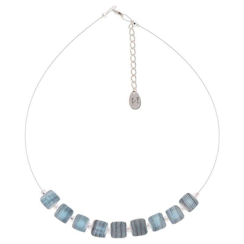 Sky Strata Glass Necklace