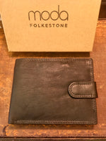 Load image into Gallery viewer, Men's Matt Black Leather RFID Wallet