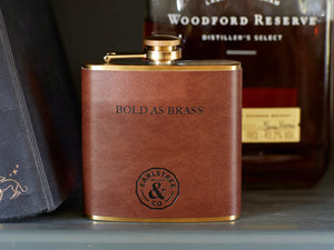 Bold as Brass Stainless Steel Hip Flask