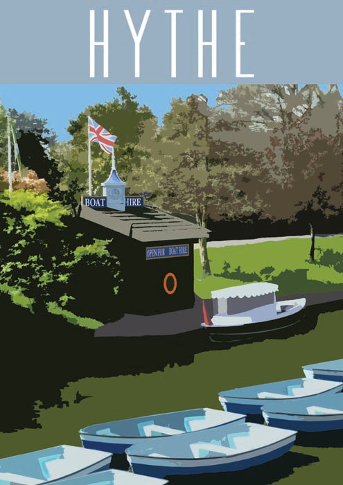 Moda Exclusive Hythe Boat House A3 Local Art Print