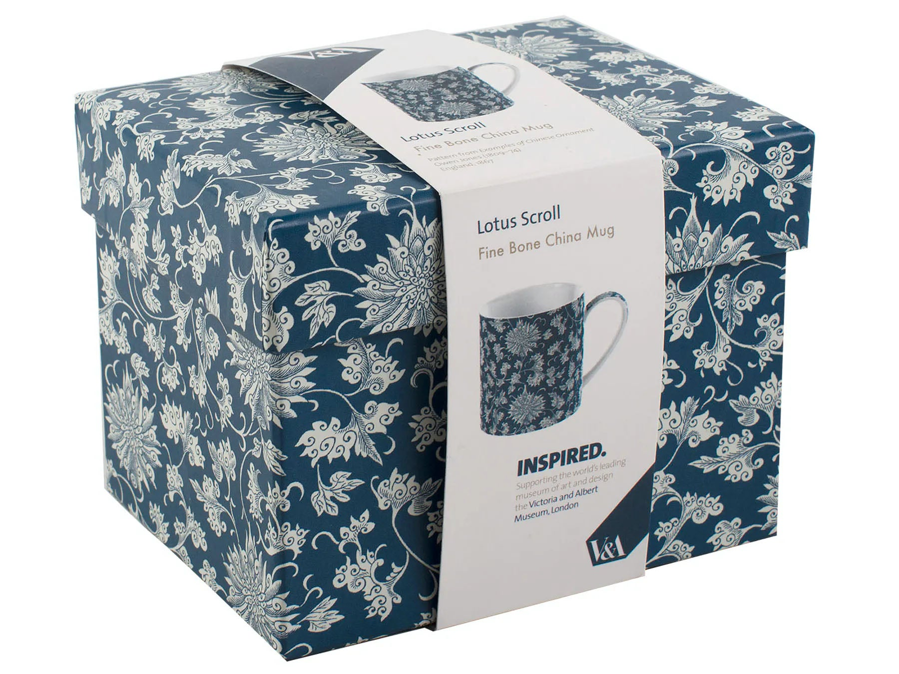 V&A Owen Jones Lotus Scroll Gift Boxed Mug