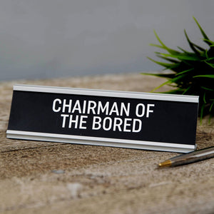 Metal Comedy Desk Signs