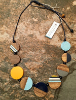 Load image into Gallery viewer, Wood & Resin Discs Necklace