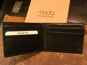 Men's Black Leather RFID Wallet