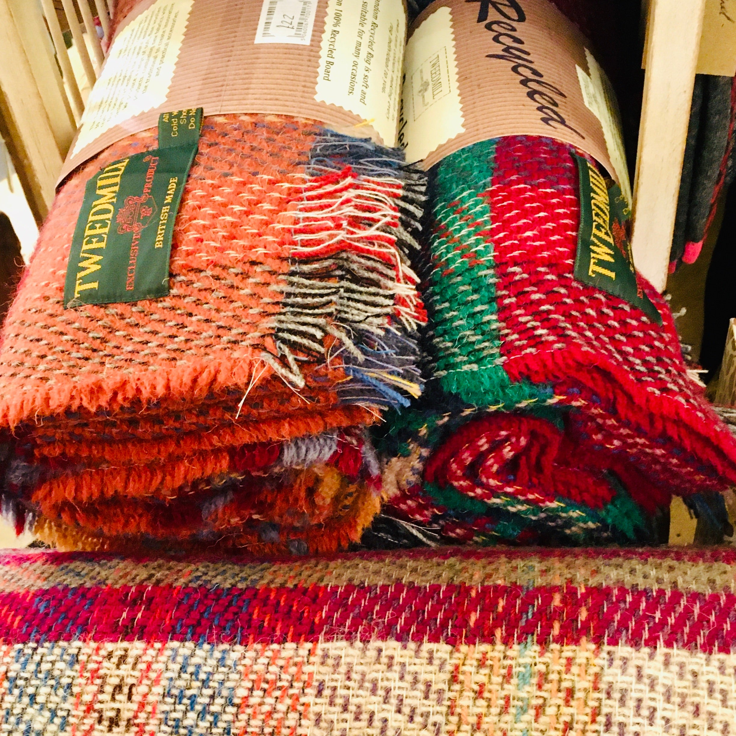 Random All Wool Recycled Throw