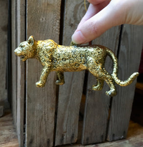 Gold Safari Animal Decorations