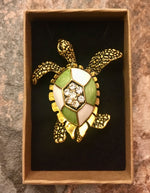 Load image into Gallery viewer, Heritage Brooch - Deco Turtle