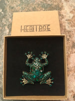 Load image into Gallery viewer, Heritage Large Brooch - Frog